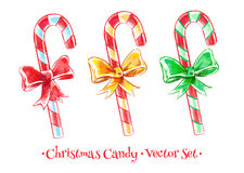Christmas candy set Royalty Free Stock Image