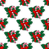 Christmas candy stick seamless Stock Photos