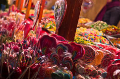 Christmas candy store on the local square in Belgrade Royalty Free Stock Image
