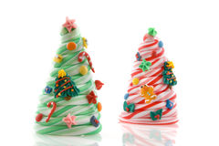 Christmas candy trees Stock Photos
