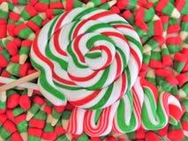 Christmas candy variety Stock Photos