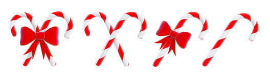 Christmas candy on a white background. 3D illustration Royalty Free Stock Image