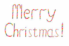 Christmas candy wish Merry Christmas! Royalty Free Stock Photo