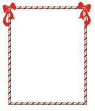 Christmas Candycane Frame Stock Images