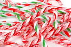 Christmas canes background. Close-up Royalty Free Stock Photos