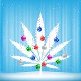 Christmas cannabis tree Stock Photography