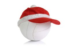 Christmas cap on  ball Stock Photos