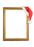 Christmas cap and frame Stock Image