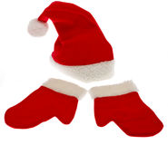 Christmas Cap With Christmas Glove Royalty Free Stock Image