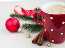 Christmas Cappuccino Stock Photo