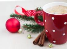 Christmas cappuccino Stock Photo