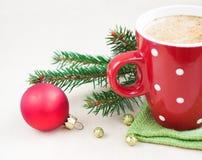 Christmas cappuccino Stock Photography