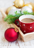 Christmas cappuccino Royalty Free Stock Images