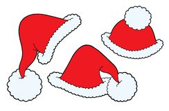 Christmas caps vector Stock Photography