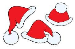 Christmas caps vector. Various Christmas caps - vector illustration Stock Photography