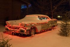 Christmas car 2 Stock Photography