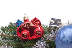 Christmas Car Royalty Free Stock Photography