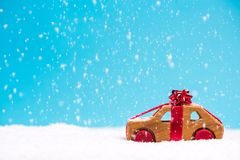 Christmas car sale or gift, template concept stock photos