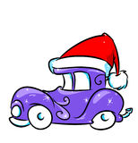 Christmas Car Santa Claus Stock Photography
