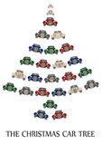 The christmas car tree Royalty Free Stock Image