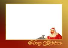 Christmas card 02. Christmas illustration, great for photo card Royalty Free Stock Photos