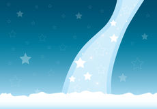 Christmas Card 1. Abstract Christmas winter background with stars and snow. Can be used as a Christmas card template Stock Image
