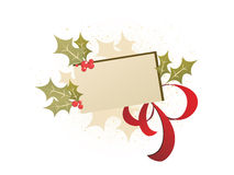 Christmas card. Vector illustration of a floral christmas sign Stock Photography