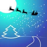 Christmas card. Blue night vector christmas card Royalty Free Stock Photos