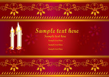 Christmas card. Or decorative banner with scrolls royalty free illustration