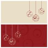Christmas card. Set, vector illustration Royalty Free Stock Photos