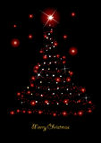 Christmas card. With glittering tree,  illustration Royalty Free Stock Images