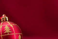 Christmas card. With ornament ball for congratulations Stock Photography