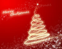 Christmas card. Red merry christmas greeting card Stock Photography