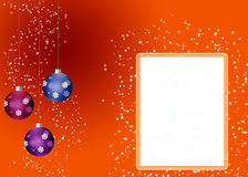 Christmas card. Christmas card with an empty place for your text Royalty Free Stock Image
