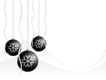 Christmas card. Black xmas balls on white background Royalty Free Stock Photography