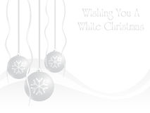 Christmas card. Wishing you a white Christmas card Stock Photos