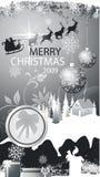 Christmas card. With santa claus Royalty Free Stock Photos
