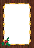 Christmas card. A vertical christmas card with a sprig and berries,useful as a christmas greeting card Royalty Free Stock Photos