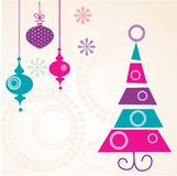 Christmas card. Colorful Christmas card  illustration Royalty Free Stock Photos
