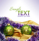 Christmas Card. With decoration and copyspase Stock Photography