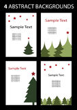 Christmas Card. 4 Cool Abstract Christmas Backgrounds Royalty Free Illustration