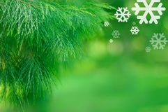 Christmas card. A shot of christmas with minor design added. user can input text on the empty space and send to your friend as a christmas card. commercial Stock Image