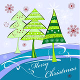 Christmas card. Universal template for greeting card, web page, background Royalty Free Stock Image