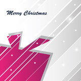 Christmas Card. With box and cool background Stock Photography
