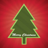 Christmas Card. Nice christmas card with tree Royalty Free Stock Images