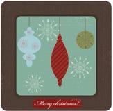 Christmas card. Retro stylized christmas grunge card Stock Illustration