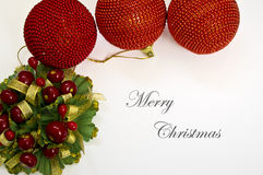 Christmas card. Beautiful Christmas card with great colors in white background Royalty Free Stock Image
