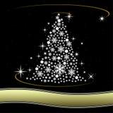 Christmas card. Design of Christmas card with fir tree Stock Image