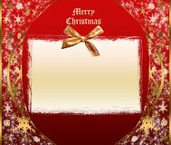 Christmas card. Sparkling christmas template with empty card stock illustration