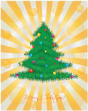 Christmas card. Special Christmas card with yellow dots Royalty Free Stock Photography